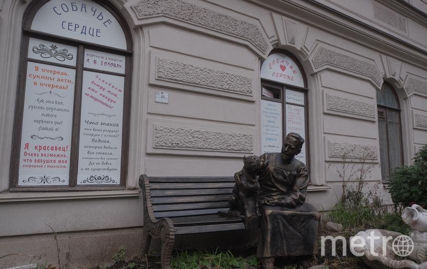 """Двор, в котором находится скульптура, закрыт. Но в него можно попасть через соседний двор. Фото Алена Бобрович, """"Metro"""""""