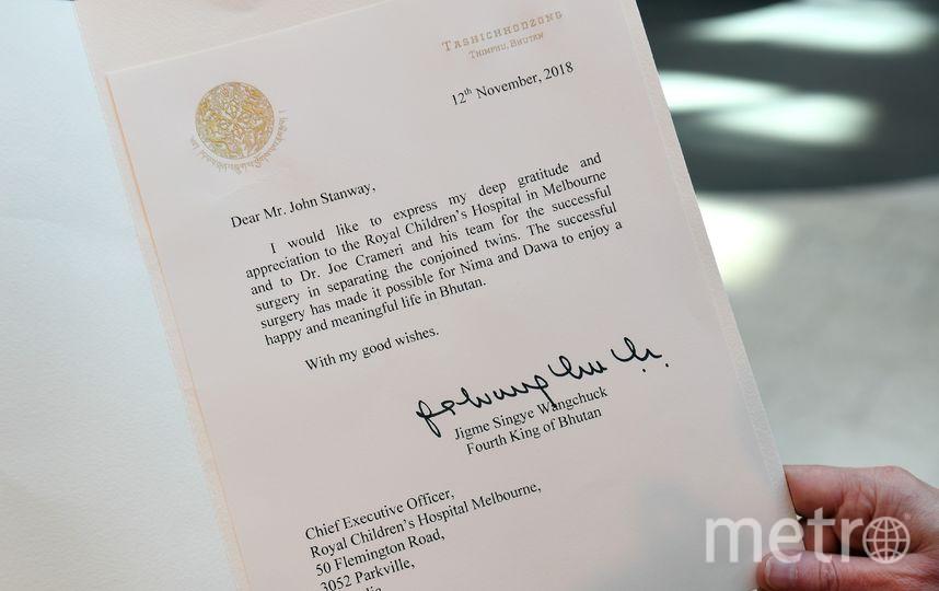 Письмо бывшего короля Бутана. Фото AFP