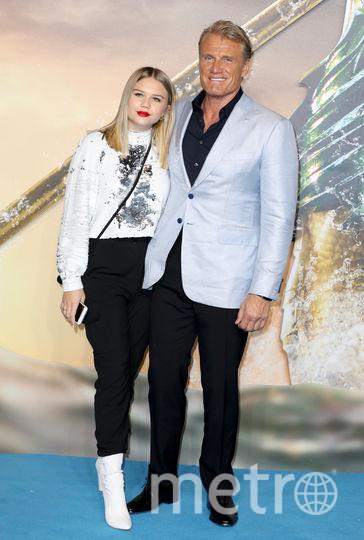 """Премера """"Аквамена"""" в Лондоне. Дольф Лундген с дочкой. Фото Getty"""