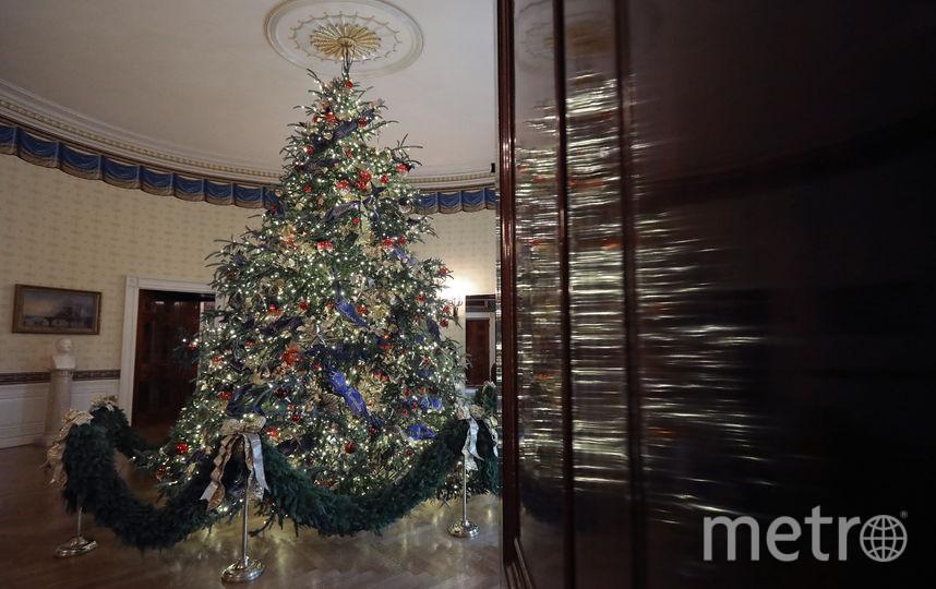 Убранство Белого дома к Новому году-2019. Фото Getty