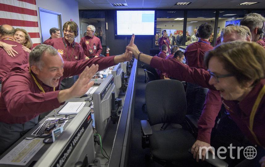Посадка зонда прошла успешно. Лаборатория реактивных двигателей - 26 ноября 2018 года в Пасадене, штат Калифорния. Фото Getty