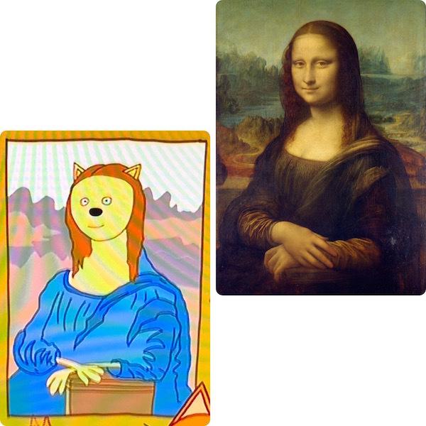 """Картина из мультфильма «Три кота», Леонардо да Винчи «Мона Лиза». Фото """"Metro"""""""