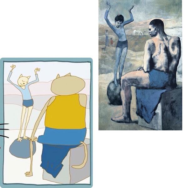 """Картина из мультфильма «Три кота», Пабло Пикассо «Девочка на шаре». Фото """"Metro"""""""