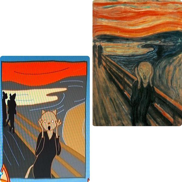"Картина из мультфильма «Три кота», Эдвард Мунк «Крик». Фото ""Metro"""