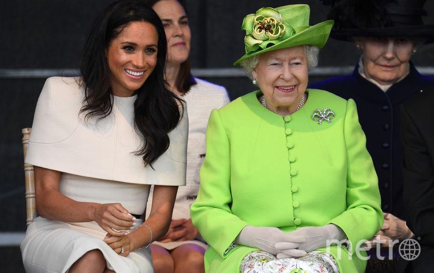Герцогиня Сассекская Меган Маркл и королева Великобритании Елизавета II. Фото Getty