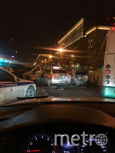 Фото с места массовой аварии на Московском проспекте. Фото vk.com