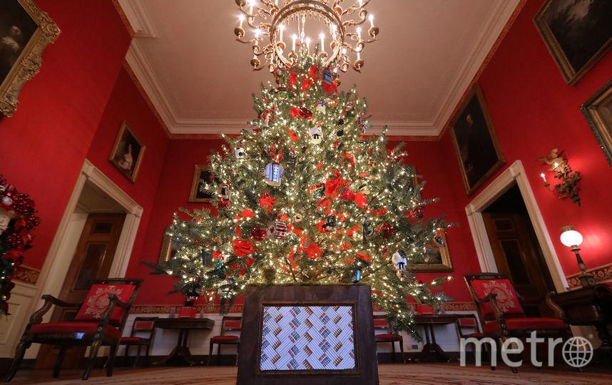 Белый дом украсили к Рождеству. Фото Getty