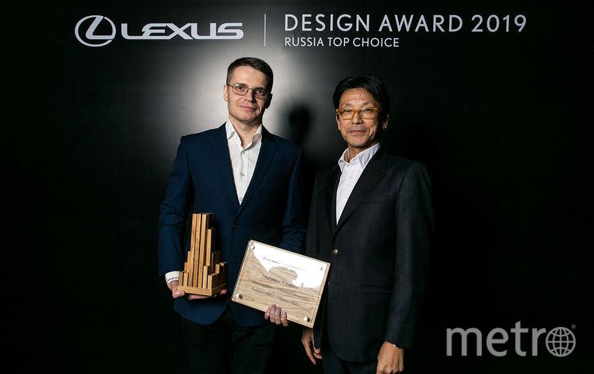 "Николай Лозинский (слева). Фото  lexus design award russia, ""Metro"""
