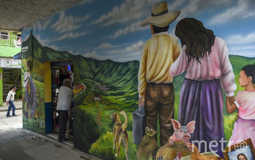 Фестиваль граффити прошёл в колумбийском Сан-Карлосе. Фото AFP