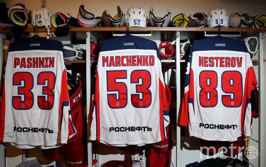 Раздевалка ЦСКА. Фото Юрий Кузьмин, Андрей Голованов, photo.khl.ru