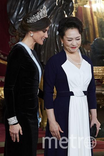 Королева Летиция и Пэн Лиюань. Фото Getty