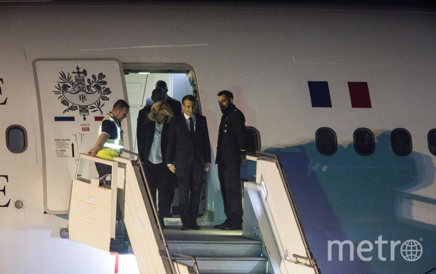 Макрон с женой уже прилетел в Аргентину. Фото Getty
