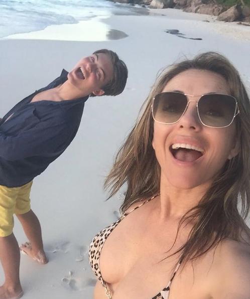 Элизабет и Дэмиан Хёрли. Фото Скриншот Instagram: damianhurley1