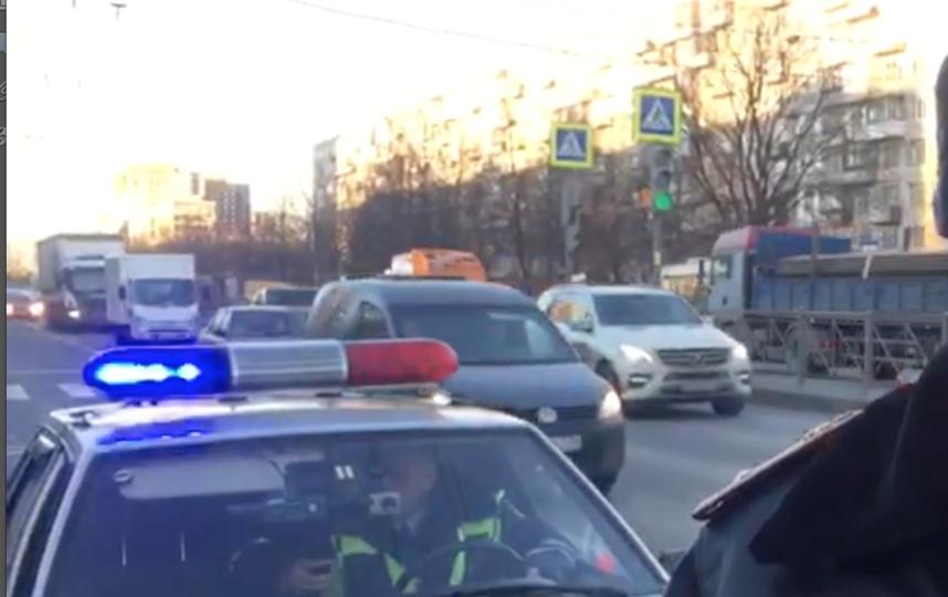 Скриншот видео с места ДТП УГИБДД по СПБ и ЛО.