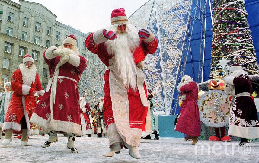 Новый год в Москве. Фото Getty