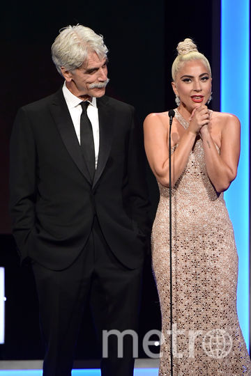 """Леди Гага и Сэм Эллиотт. Вручение 32-й премии """"Американской синематеки"""" (32nd American Cinematheque Award). Фото Getty"""