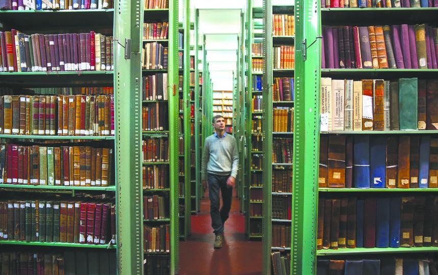 В Историчке 6 миллионов единиц хранения, из них 4 миллиона – книги. Фото Василий Кузьмичёнок