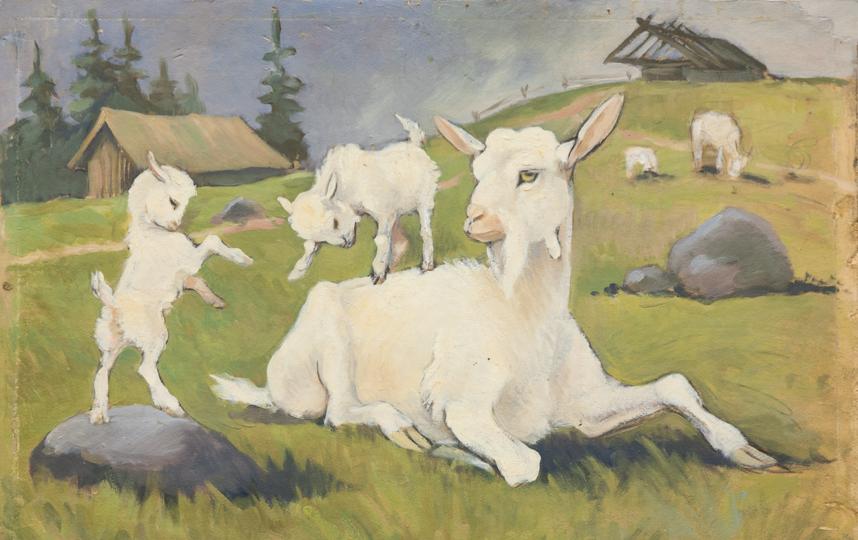 Коза с козлятами. Фото Предоставлено Дарвиновским музеем