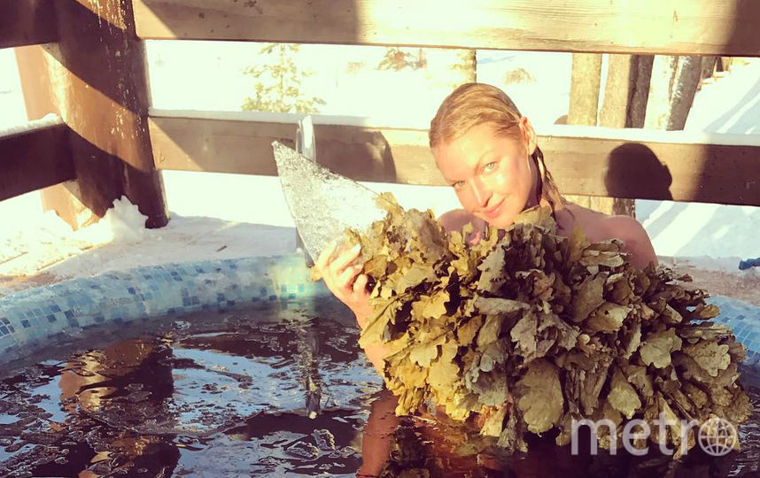 Ранее Волочкова уже окуналась в мороз. Фото instagram.com/volochkova_art