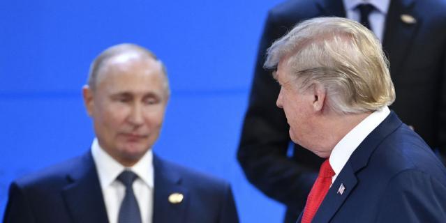 Владимир Путин и Дональд Трамп на саммите G20.
