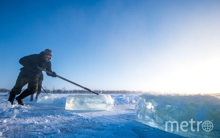 Зимняя рыбалка в селе Ой. Фото AFP