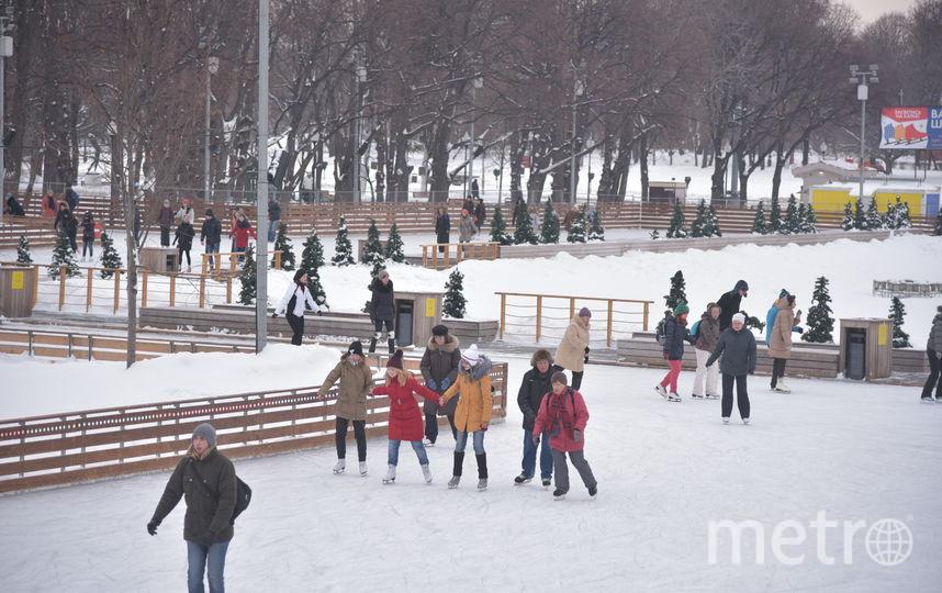 Школы фигурного катания начали работать в московских парках. Фото Василий Кузьмичёнок