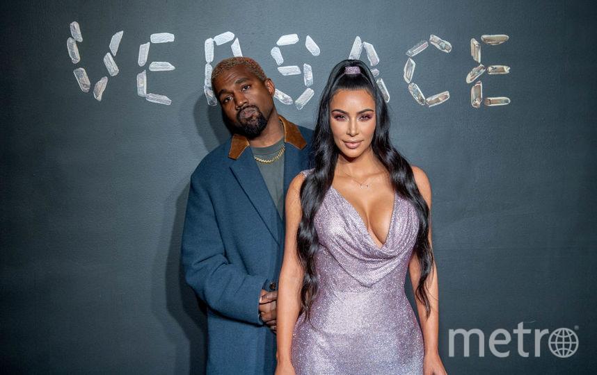 Ким Кардашьян и Канье Уэст. Шоу Versace. Фото Getty