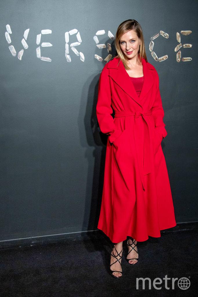 Ума Турман. Шоу Versace. Фото Getty