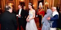 Кейт Миддлтон в белоснежном платье и тиаре леди Ди блистала на королевском приёме. Фото