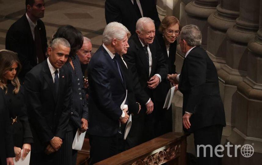 Прощание с Джорджем Бушем-старшим. Фото Getty