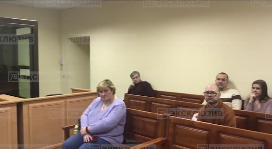 Кадры из зала суда. Фото Скриншот 78.ru