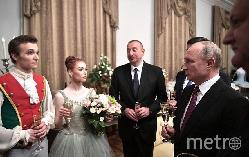 После спектакля Владимир Путин и участники саммита встретились с труппой Мариинского театра. Фото kremlin.ru