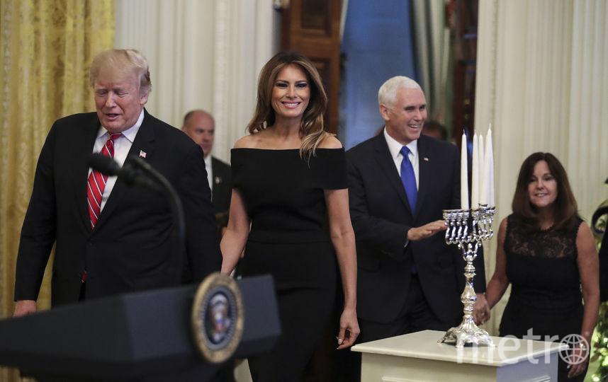 Мелания Трамп в Белом доме в Хануку. Фото Getty