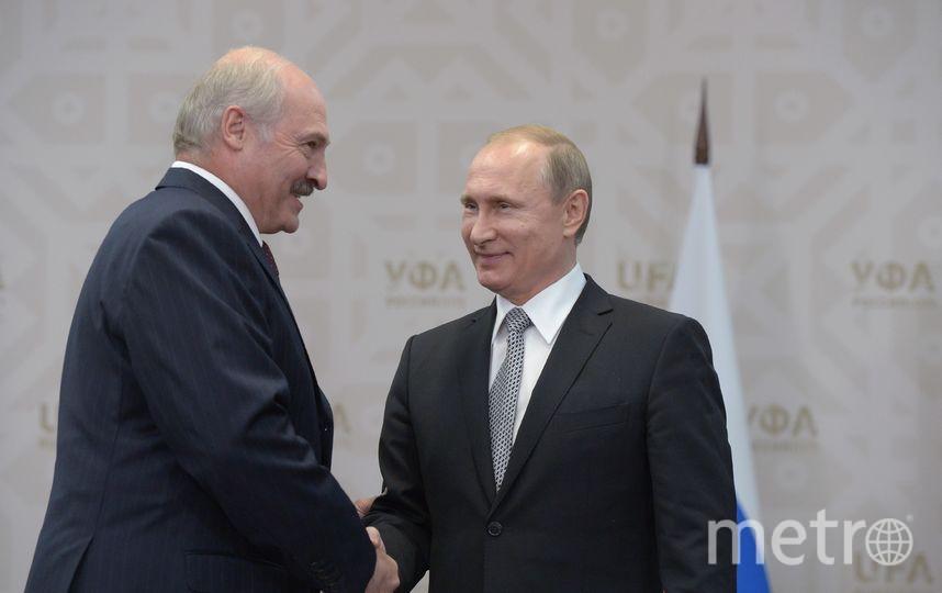 Президент Белоруссии Александр Лукашенко и президент России Владимир Путин. Фото Getty