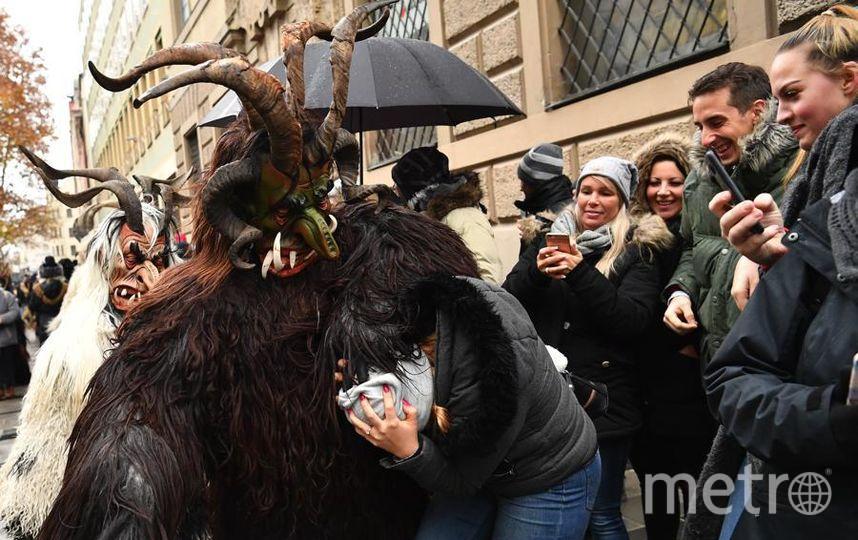 Krampus Creatures Parade в Мюнхене. Фото Getty
