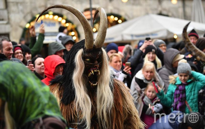Krampus Creatures Parade в Мюнхене. Фото Getty