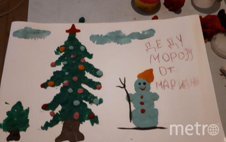 "От Марианны дедушке морозу.  --  Марина Онюшкина. Фото ""Metro"""
