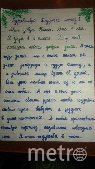 """Соболева Настя, 7 лет. Фото Соболева Людмила Ивановна, """"Metro"""""""