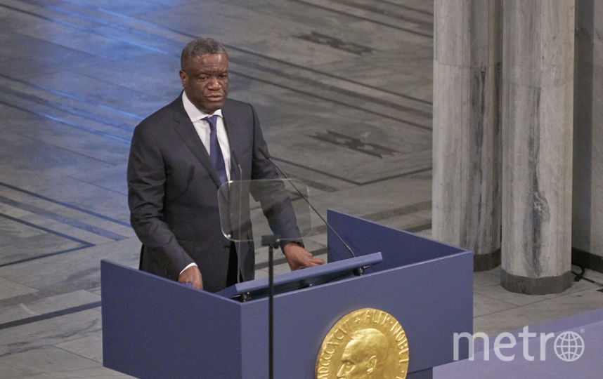Nobel Peace Prize Award Ceremony 2018. Дени Муквеге. Фото Getty