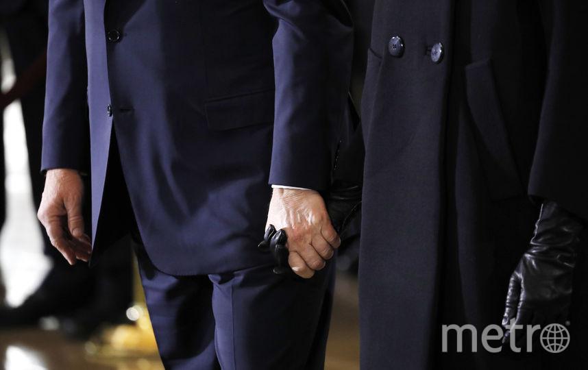 Дональд и Мелания Трамп у Капитолия в феврале 2018 года, на похоронах проповедника Билли Грэма. Фото Getty
