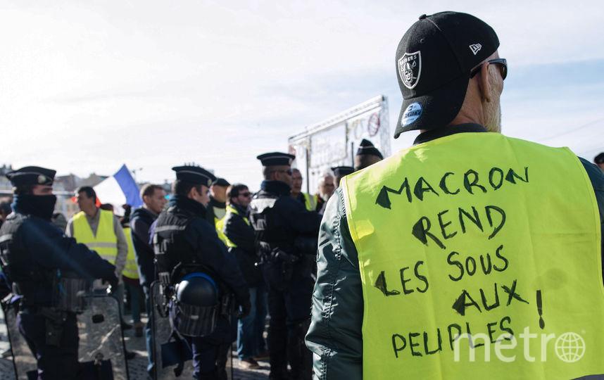 Протесты во Франции. Фото AFP