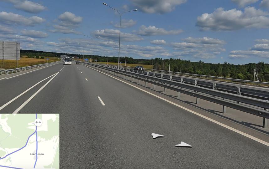 """Трасса на Приозерск разделена отбойниками. Фото яндекс.карты., """"Metro"""""""