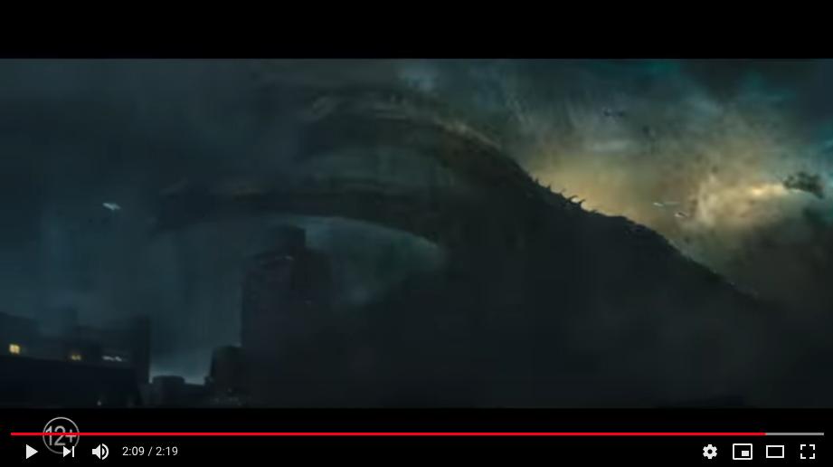"Трейлер ""Годзиллы-2"". Фото скриншот, Скриншот Youtube"