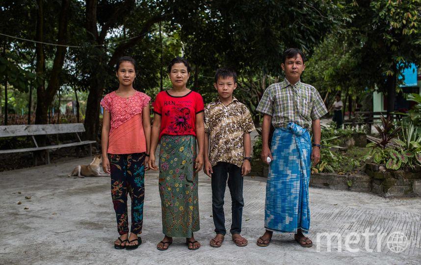 Киав Со Оо с семьёй. Фото Getty
