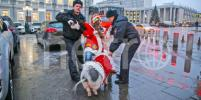 Символ Нового года задержали на Красной площади
