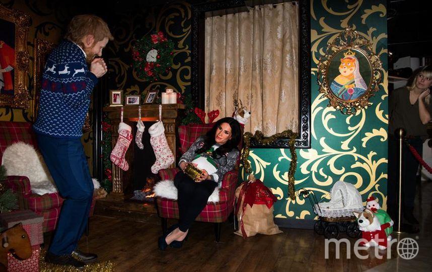 Живые восковые Меган Маркл и принц Гарри в Берлине. Фото Getty