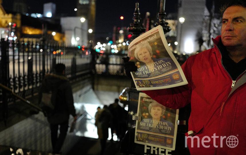 В настоящий момент проходит процедура голосования о доверии премьер-министру Великобритании. Фото AFP