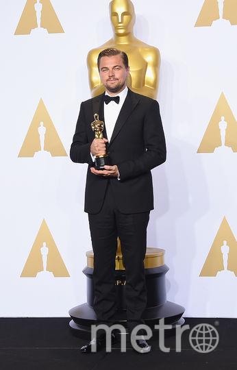 """Леонардо Ди Каприо получает """"Оскар"""" за роль в фильме """"Выживший"""". Фото Getty"""