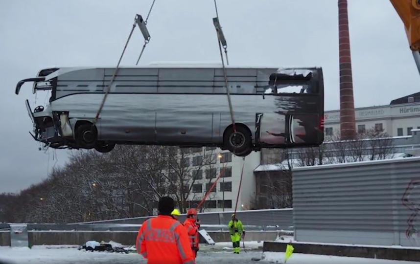 ДТП в Швейцарии. Фото скриншот видео 5tv.ru