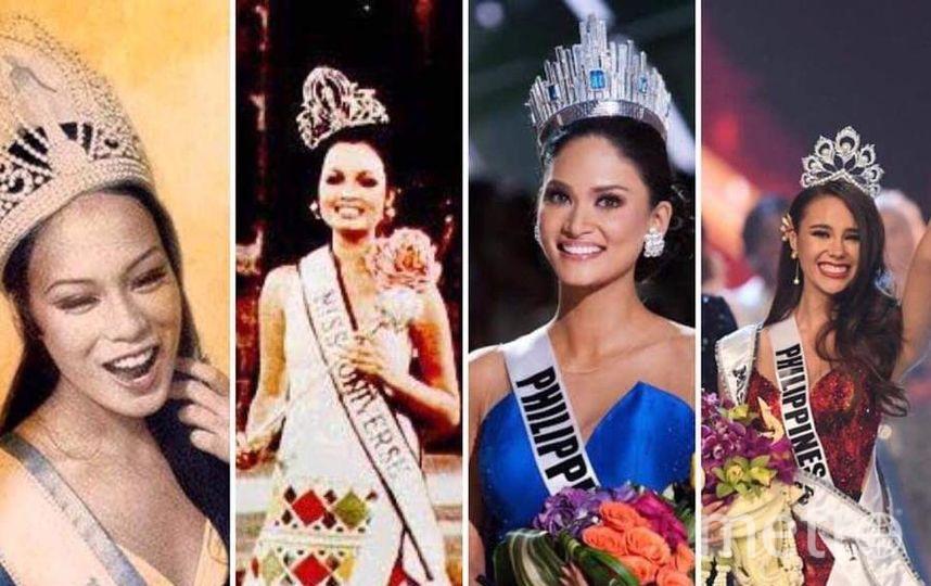 """Филиппинки четыре раза становились """"Мисс Вселенная""""."""